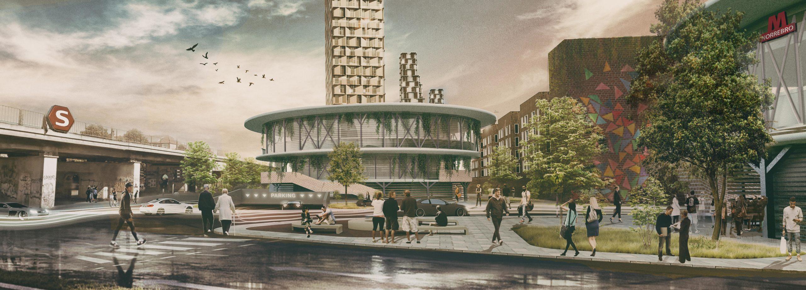 Nørrebro Hub Parking circle